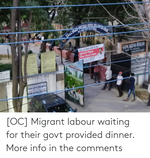 Migrant: [OC] Migrant labour waiting for their govt provided dinner. More info in the comments