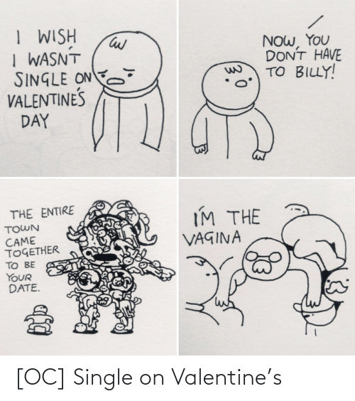 Single: [OC] Single on Valentine's