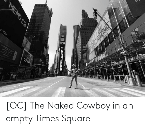 Square: [OC] The Naked Cowboy in an empty Times Square