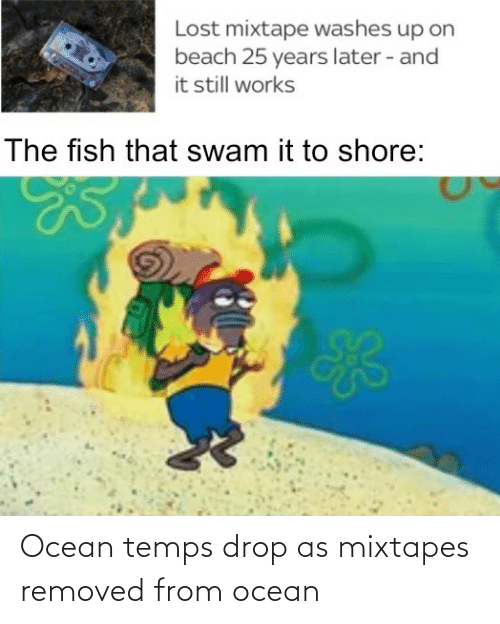 Removed: Ocean temps drop as mixtapes removed from ocean