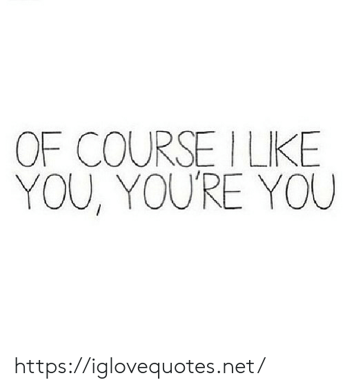 Net, You, and Href: OF COURSE ILKE  YOU, YOU'RE YOU https://iglovequotes.net/