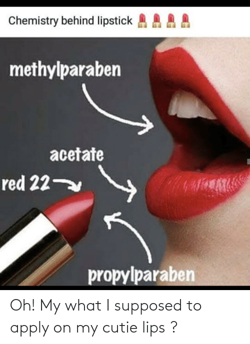 Supposed: Oh! My what I supposed to apply on my cutie lips ?
