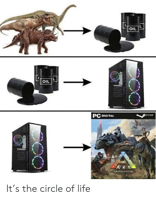 digital: OIL  OIL  PC DIGITAL  STEAM  ARK  SURVIVAL EVCLVED It's the circle of life
