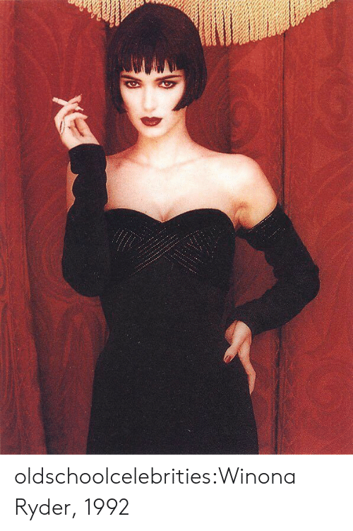 Tumblr, Blog, and Winona Ryder: oldschoolcelebrities:Winona Ryder, 1992