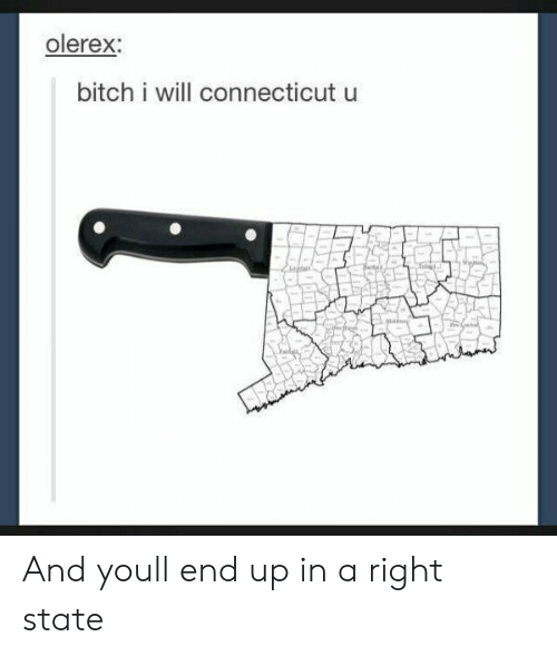 Bitch, Connecticut, and Will: olerex:  bitch i will connecticut u And youll end up in a right state
