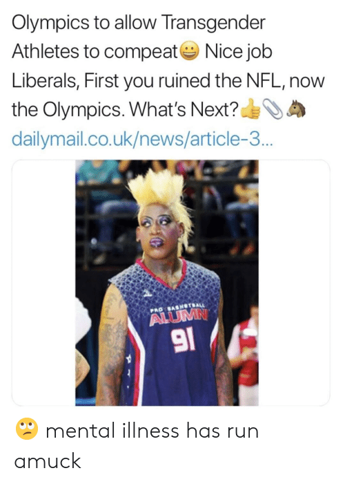 Olympics To Allow Transgender Athletes To Compeatnice Job Liberals