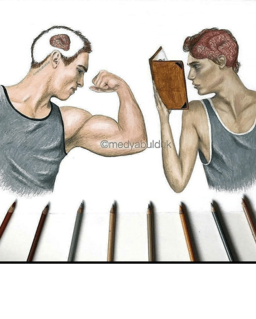 smart people: Omedyabuld k Smart people can't have muscles