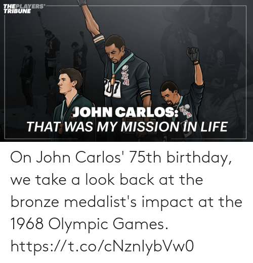olympic: On John Carlos' 75th birthday, we take a look back at the bronze medalist's impact at the 1968 Olympic Games. https://t.co/cNznIybVw0
