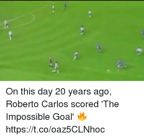 the impossible: On this day 20 years ago, Roberto Carlos scored 'The Impossible Goal' 🔥 https://t.co/oaz5CLNhoc