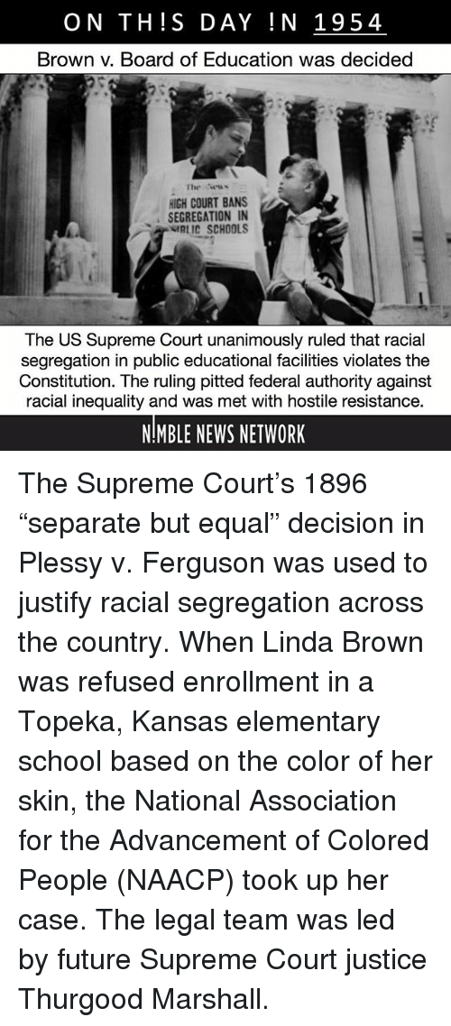an overview of the brown and the naacp for the supreme court in 1951