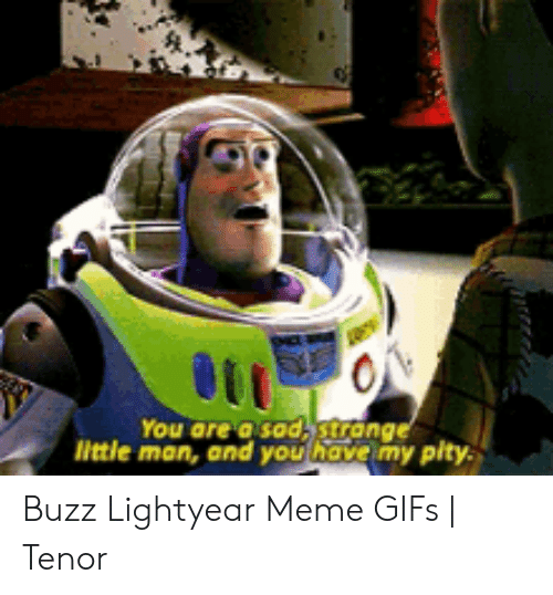 Buzz Lightyear Meme: ON  You are a sod,strange  little man, and you have my pity Buzz Lightyear Meme GIFs   Tenor