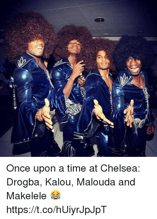 Chelsea, Soccer, and Once Upon a Time: Once upon a time at Chelsea: Drogba, Kalou, Malouda and Makelele 😂 https://t.co/hUiyrJpJpT
