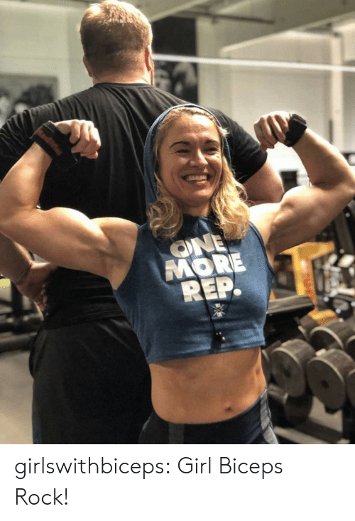 Tumblr, Blog, and Girl: ONE  MORE  REP. girlswithbiceps:  Girl Biceps Rock!