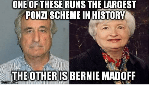 Memes, History, and Bernie: ONE OF THESE RUNS THE LARGEST  PONZISCHEME IN HISTORY  THE OTHER IS BERNIE MADOFF