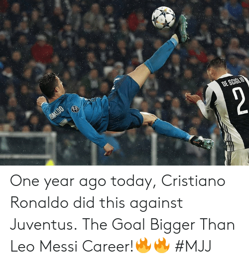 Juventus: One year ago today, Cristiano Ronaldo did this against Juventus.  The Goal Bigger Than Leo Messi Career!🔥🔥   #MJJ