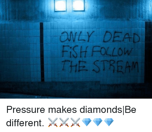 deads: ONLY DEAD  FiSH FOLLOw  THE STREAM Pressure makes diamonds|Be different. ⚔️⚔️⚔️💎💎💎