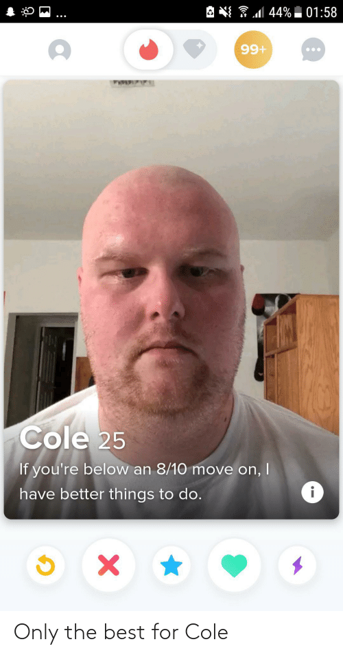 Cole: Only the best for Cole