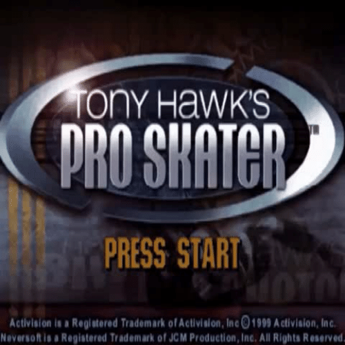 activision: ony HaWKS  PRESS START  Activision is a Registered Trademark of Activislon, Inc01999 Activision, Inc  eversoft is a Registered Trademark of JCM Production, Inc. All Rights Reserved