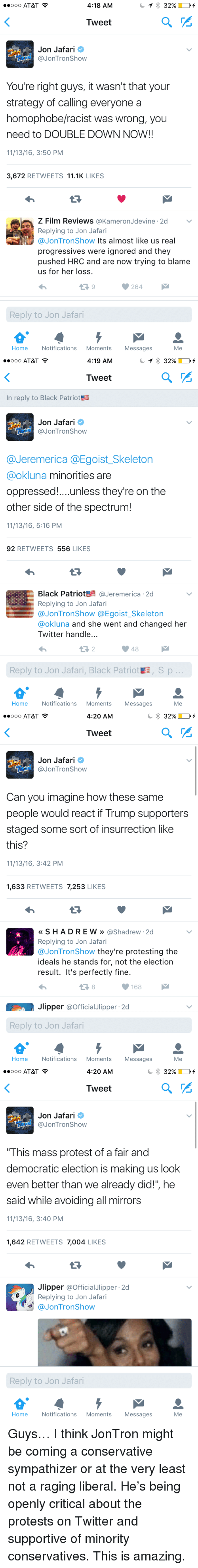 """jontron: ..ooo AT&T  4:18 AM  Tweet  