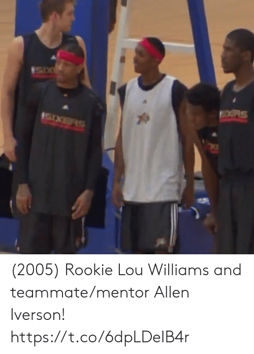 allen: OORS (2005) Rookie Lou Williams and teammate/mentor Allen Iverson!    https://t.co/6dpLDeIB4r