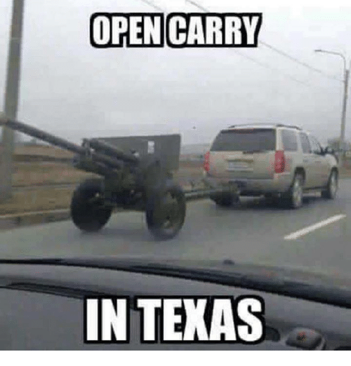Memes, Texas, and 🤖: OPEN CARRY  IN TEXAS