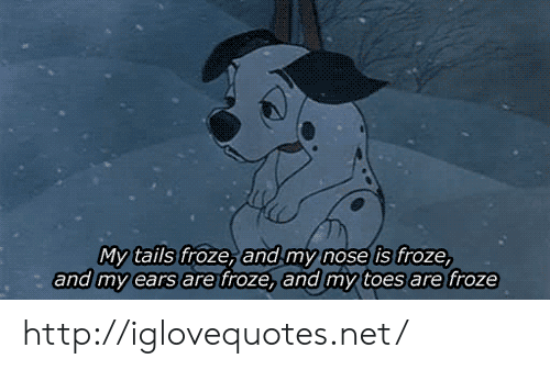 Http, Net, and Tails: os  My tails froze, and my nose is froze,  and my ears are froze, and my toes are froze http://iglovequotes.net/