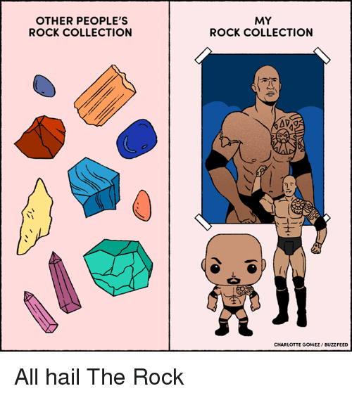 my rock: OTHER PEOPLE'S  ROCK COLLECTION  MY  ROCK COLLECTION  CHARLOTTE GOMEZ BUZZFEED All hail The Rock