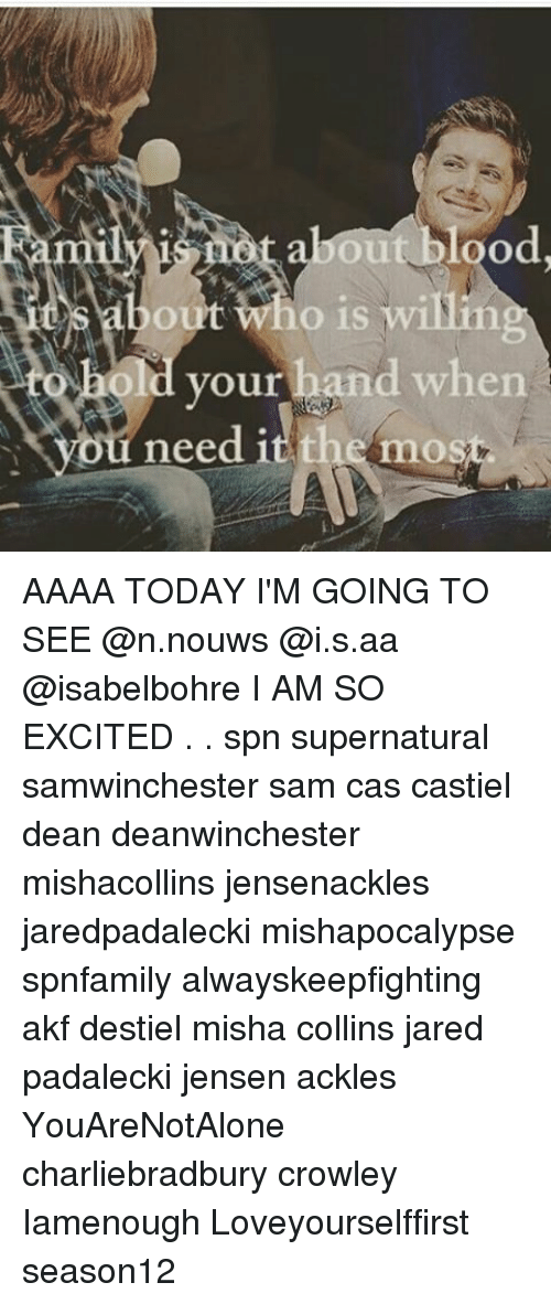 Excition: Ou  ho is willin  Ou  your hand when  need 1  themos AAAA TODAY I'M GOING TO SEE @n.nouws @i.s.aa @isabelbohre I AM SO EXCITED . . spn supernatural samwinchester sam cas castiel dean deanwinchester mishacollins jensenackles jaredpadalecki mishapocalypse spnfamily alwayskeepfighting akf destiel misha collins jared padalecki jensen ackles YouAreNotAlone charliebradbury crowley Iamenough Loveyourselffirst season12