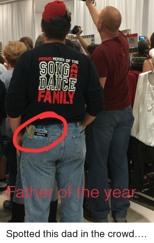 oud: OUD MENBER OF THE  DAICE  72  Bobby Pins  AIR  Father of tne year <p>Spotted this dad in the crowd&hellip;.</p>