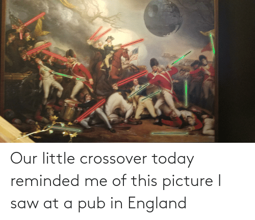 Pub: Our little crossover today reminded me of this picture I saw at a pub in England