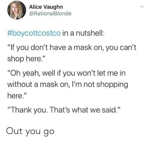 You Go: Out you go
