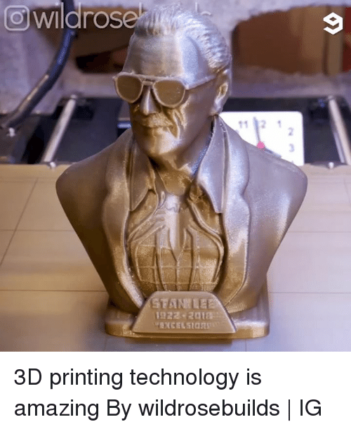 Dank, Technology, and Amazing: owildrose  9 3D printing technology is amazing  By wildrosebuilds   IG