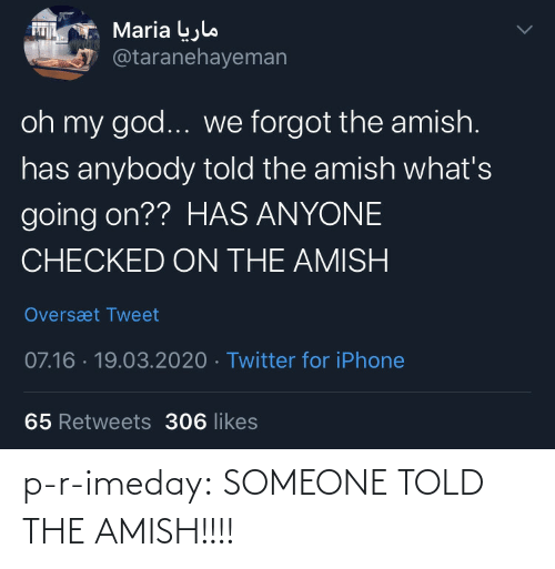 Told: p-r-imeday: SOMEONE TOLD THE AMISH!!!!
