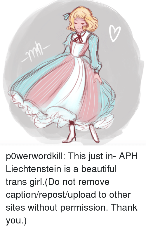 Beautiful, Target, and Tumblr: p0werwordkill:  This just in- APH Liechtenstein is a beautiful trans girl.(Do not remove caption/repost/upload to other sites without permission. Thank you.)