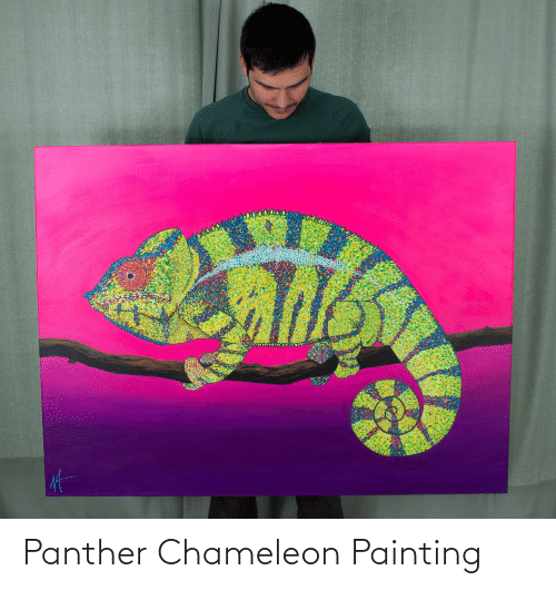 panther: Panther Chameleon Painting