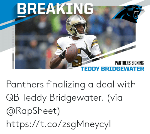 Deal With: Panthers finalizing a deal with QB Teddy Bridgewater. (via @RapSheet) https://t.co/zsgMneycyI