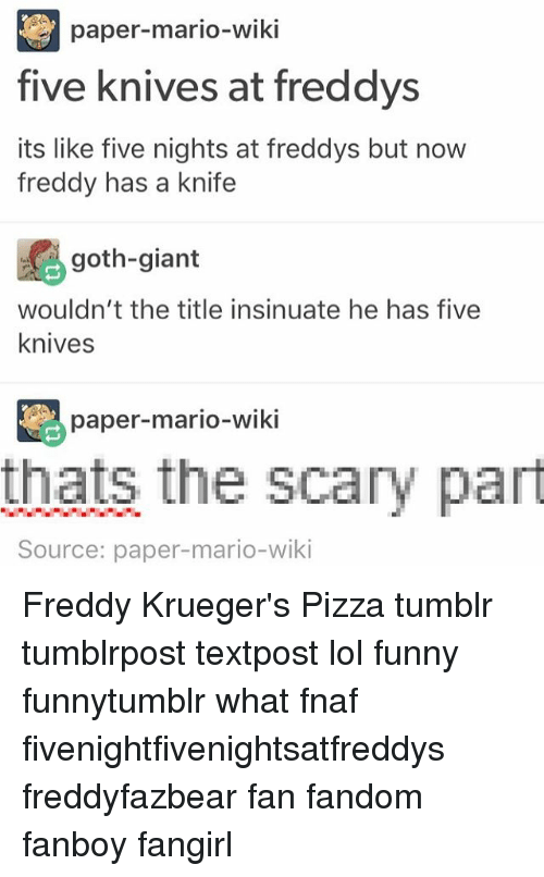 Paper-Mario-Wiki Five Knives at Freddys Its Like Five Nights