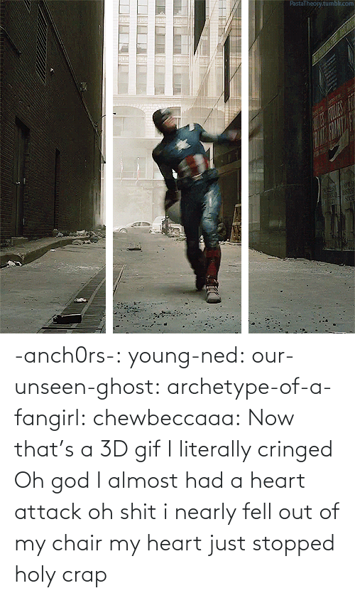I Almost Had A Heart Attack: PastaTheojy.tumblr.com  FOLE -anch0rs-:  young-ned:  our-unseen-ghost:  archetype-of-a-fangirl:  chewbeccaaa:  Now that's a 3D gif  I literally cringed  Oh god I almost had a heart attack  oh shit i nearly fell out of my chair  my heart just stopped holy crap