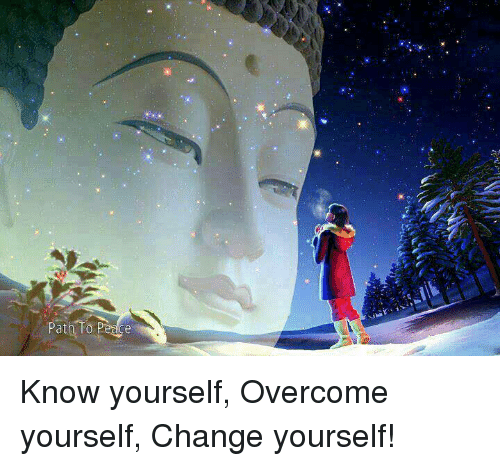 Know Yourself, Memes, and Change: Path To Perce Know yourself, Overcome yourself, Change yourself!