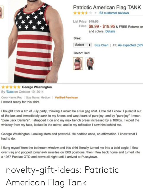 """stern: Patriotic American Flag TANK  * * * y 63 customer reviews  List Price:$4998  Price: $9.99 $19.95 & FREE Returns or  and colors. Details  Size:  Select  #  Size Chart 
