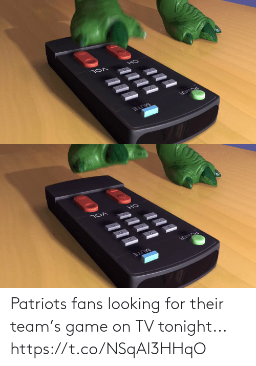 Patriotic: Patriots fans looking for their team's game on TV tonight... https://t.co/NSqAl3HHqO