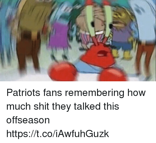Football, Nfl, and Patriotic: Patriots fans remembering how much shit they talked this offseason https://t.co/iAwfuhGuzk