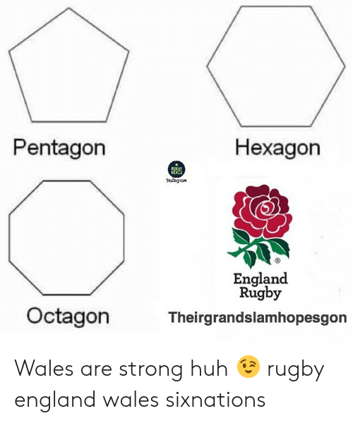 wales: Pentagon  Hexagon  HEHES  England  Rugby  Octagon  Theirgrandslamhopesgon Wales are strong huh 😉 rugby england wales sixnations