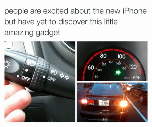 Iphone, Discover, and New Iphone: people are excited about the new iPhone  but have yet to discover this little  amazing gadget  80 100  4o 160  120140 160  60 100  180 120  .80  km/h MPH  XYT-2436