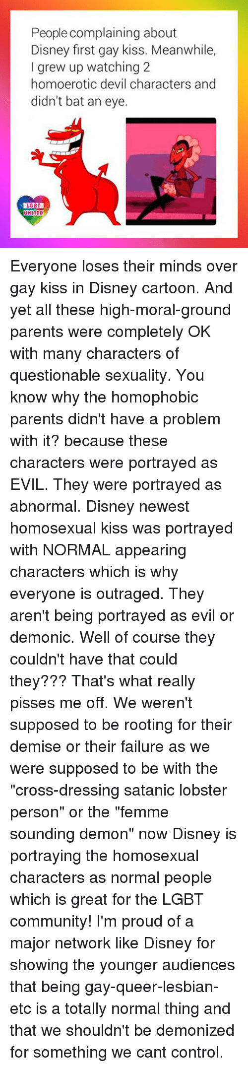 the portrayal of homosexual characters on television The struggle santana and brittany went through on screen was one of the most honest portrayals of coming to terms with sexuality gay characters on tv and film.