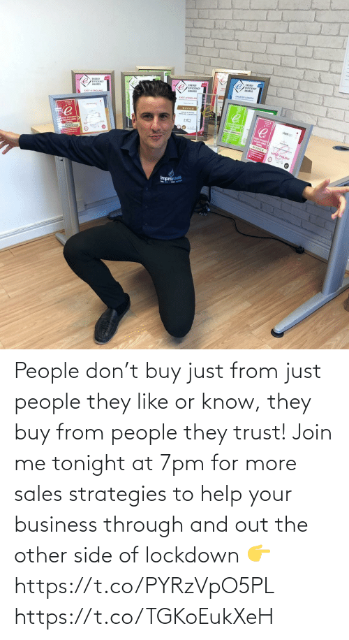 join.me: People don't buy just from just people they like or know, they buy from people they trust!   Join me tonight at 7pm for more sales strategies to help your business through and out the other side of lockdown 👉 https://t.co/PYRzVpO5PL https://t.co/TGKoEukXeH
