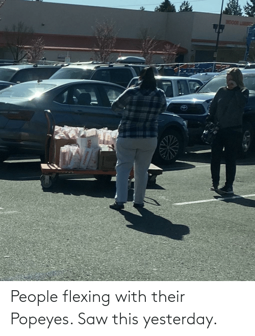 popeyes: People flexing with their Popeyes. Saw this yesterday.