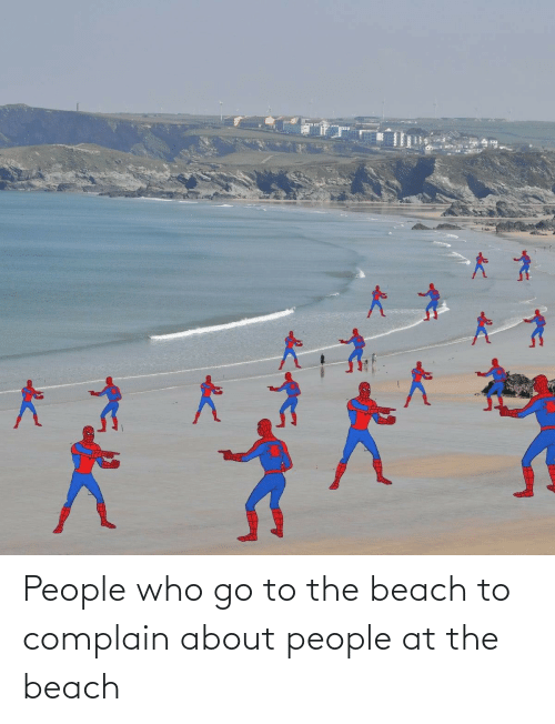 Beach: People who go to the beach to complain about people at the beach