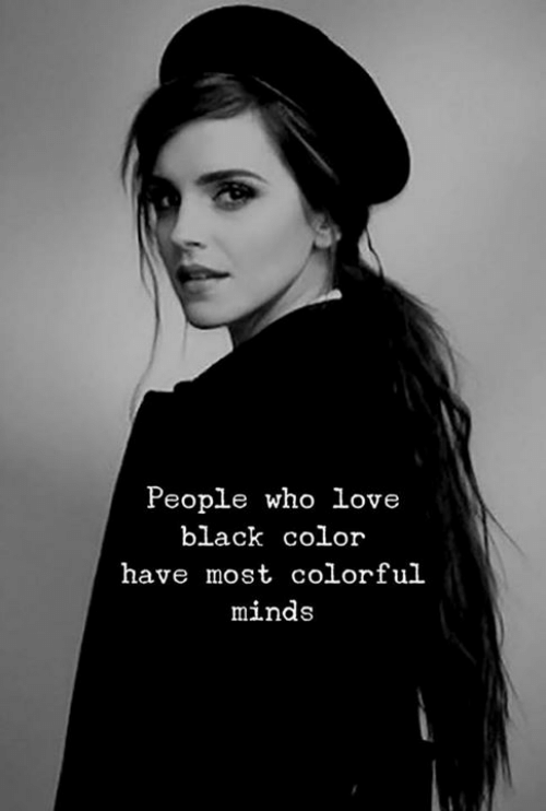 Love, Black, and Who: People who love  black color  have most colorful  minds