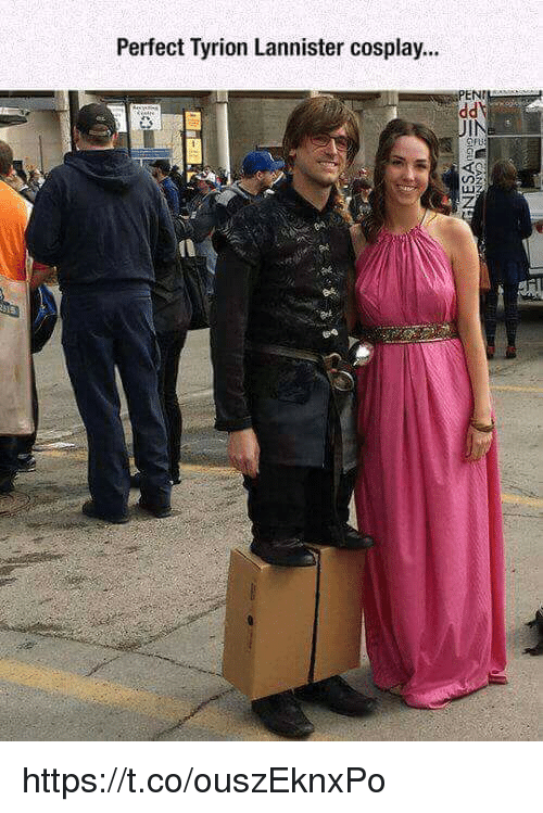 tyrion: Perfect Tyrion Lannister cosplay...  ENT  IN  L3  rt https://t.co/ouszEknxPo